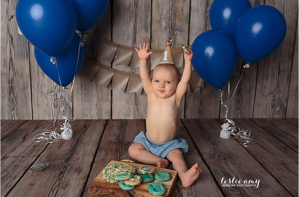 Harrison's First Birthday Session | Conway Baby Photographer
